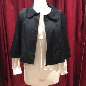 Vertigo Paris black 3/4 sleeve crop jacket